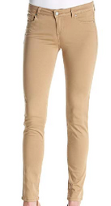 Celebrity Pink Mid Rise Skinny Jeans, Khaki, Size 3
