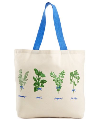 Martha Stewart Hand-Picked Herbs Canvas Tote