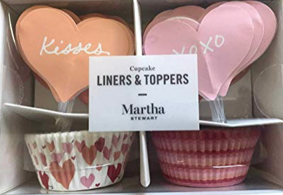 Martha Stewart Collection Heart Cupcake Liners Toppers
