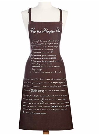 Martha Stewart Eat More Pie Apron, Black