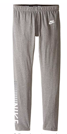 Nike Girls' Sportswear Tight, Gray, Small