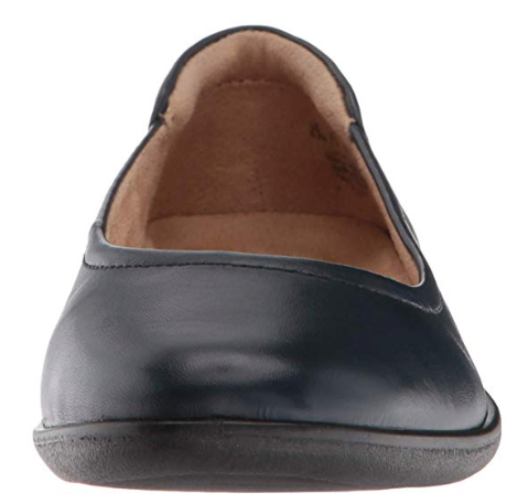 Naturalizer Women's Flexy Ballet Flat, Navy, 9 M US