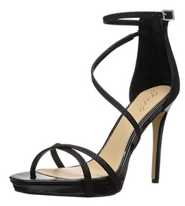 Badgley Mischka Jewel Women's Galen Heeled Sandal, Black, 10 Medium US