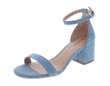 Call It Spring Womens Stangarone Fabric Open Toe Casual Ankle Strap Sandals, Light Blue, 8.5 M US
