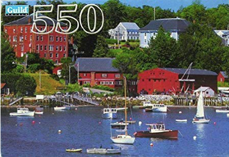 Guild Rockport ME Fishing Village Scene 550 Piece Puzzle
