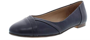 Naturalizer Women's Gilly Flat shoes, Navy, 9.0 M US