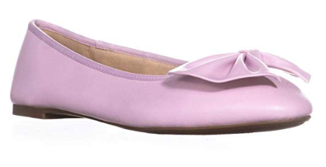 Circus by Sam Edelman Womens Ciera Bow Ballet Flats, Pearl Pink, 6.5 Medium