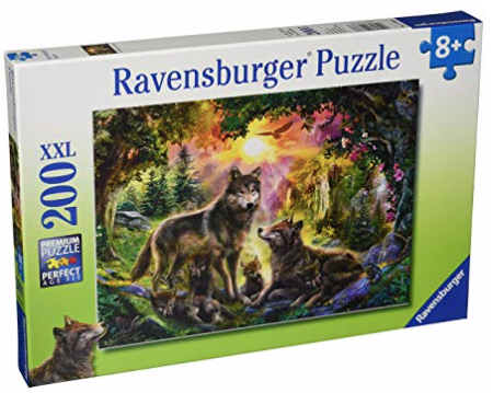 Ravensburger Wolf Family in the Sun 200 XXL Piece Jigsaw Puzzle
