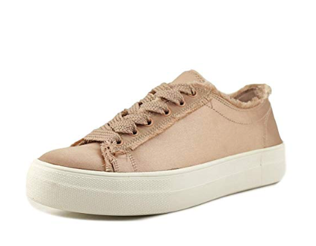 Steve Madden Womens Greyla Low Top Lace Up Fashion Sneakers, Blush STN, 7.5 M US