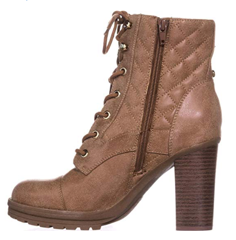 G by Guess Womens Gift Closed Toe Ankle Fashion Boots, Dark Natural, 9.5 M US