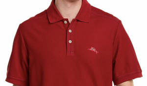 Tommy Bahama Men's Bahama Reef Polo Shirt, Red, Medium