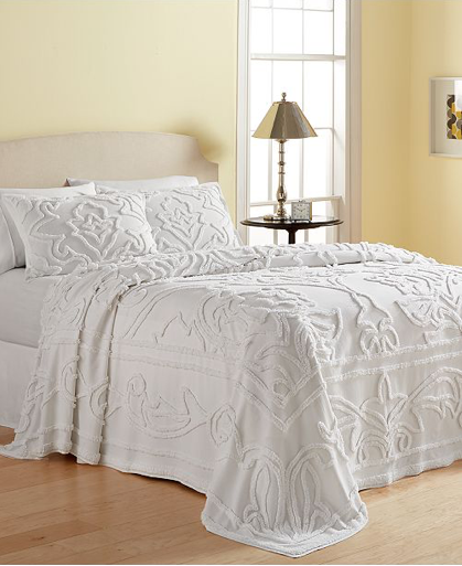 Martha Stewart Collection Wooster Tufted-Chenille Full Bedspread, White