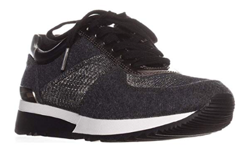 Michael Michael Kors Women's Allie Trainer Sneakers, Charcoal, 6 B(M) US