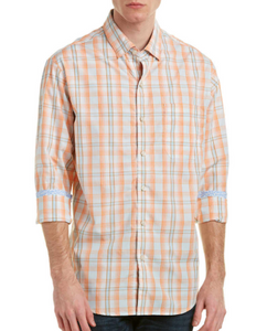 Tommy Bahama Men' Dress Shirt, Orange/White
