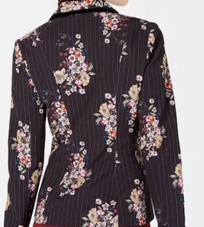 XOXO Juniors Black Floral Blazer, Black, Large