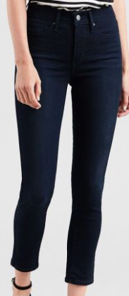 LEVI'S Women's 311 Shaping Skinny Ankle Jeans, Blue Black, 12|W31