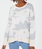 Ultra Flirt By Ikeddi Juniors' Gardenia Camo Pullover Sweater, Medium