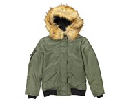 Down S13 New York Girls Igloo Bomber Jacket, Army, 12