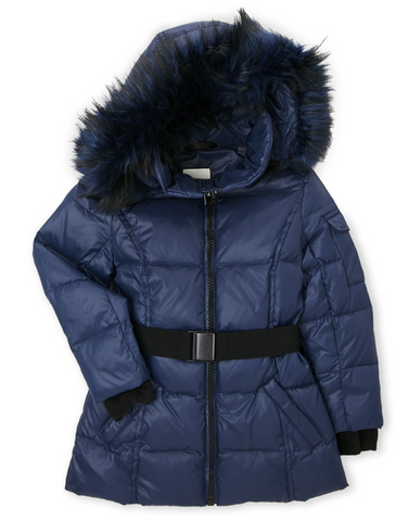 Down S13 Girls' Nicky Down Jacket, Navy, Size 6