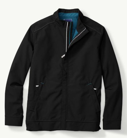 Tommy Bhama New Ace Driver Jacket, Black, X-Large