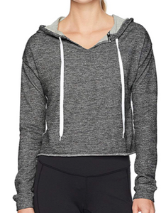 Jessica Simpson Women's Hoodie Elastic, Jet Black Heather, X-Large