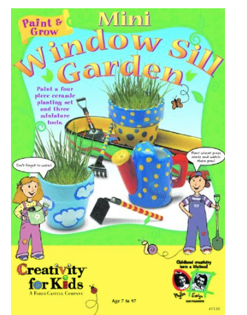 Garden Pot Creativity for Kids Mini Windowsill Garden home