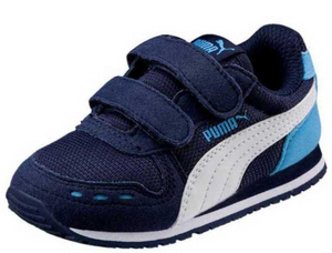 Puma Kids Cabana Racer Mesh V Inf (Little Kid), Blue, 9C US