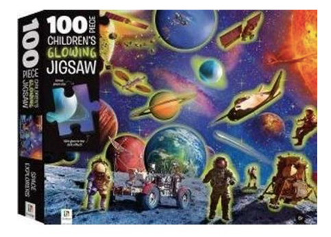 Hinkler Space Adventure Children's Glowing Jigsaw 100-Piece