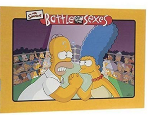 University Games Battle of the Sexes Simpsons Board Game