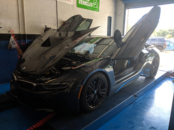 Cant we keep anything stock LOL Bmw I8 gets lowered.