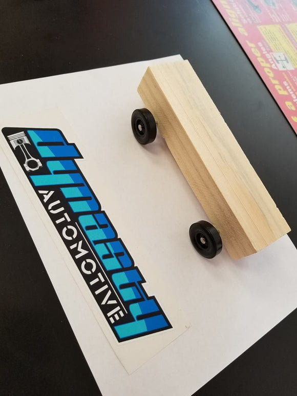 Dynasty Automotive Pinewood Derby Toy Drive Kits