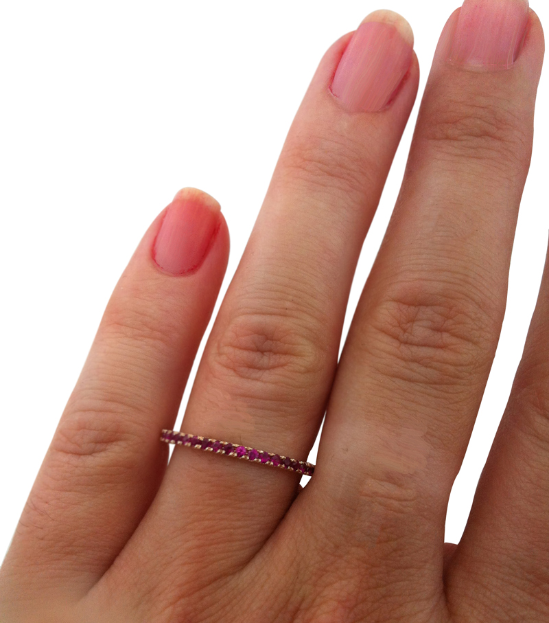 ruby birthstone stacker ring, 14k ruby stacker, fashion stacker, dainty ruby ring, inexpensive ruby ring