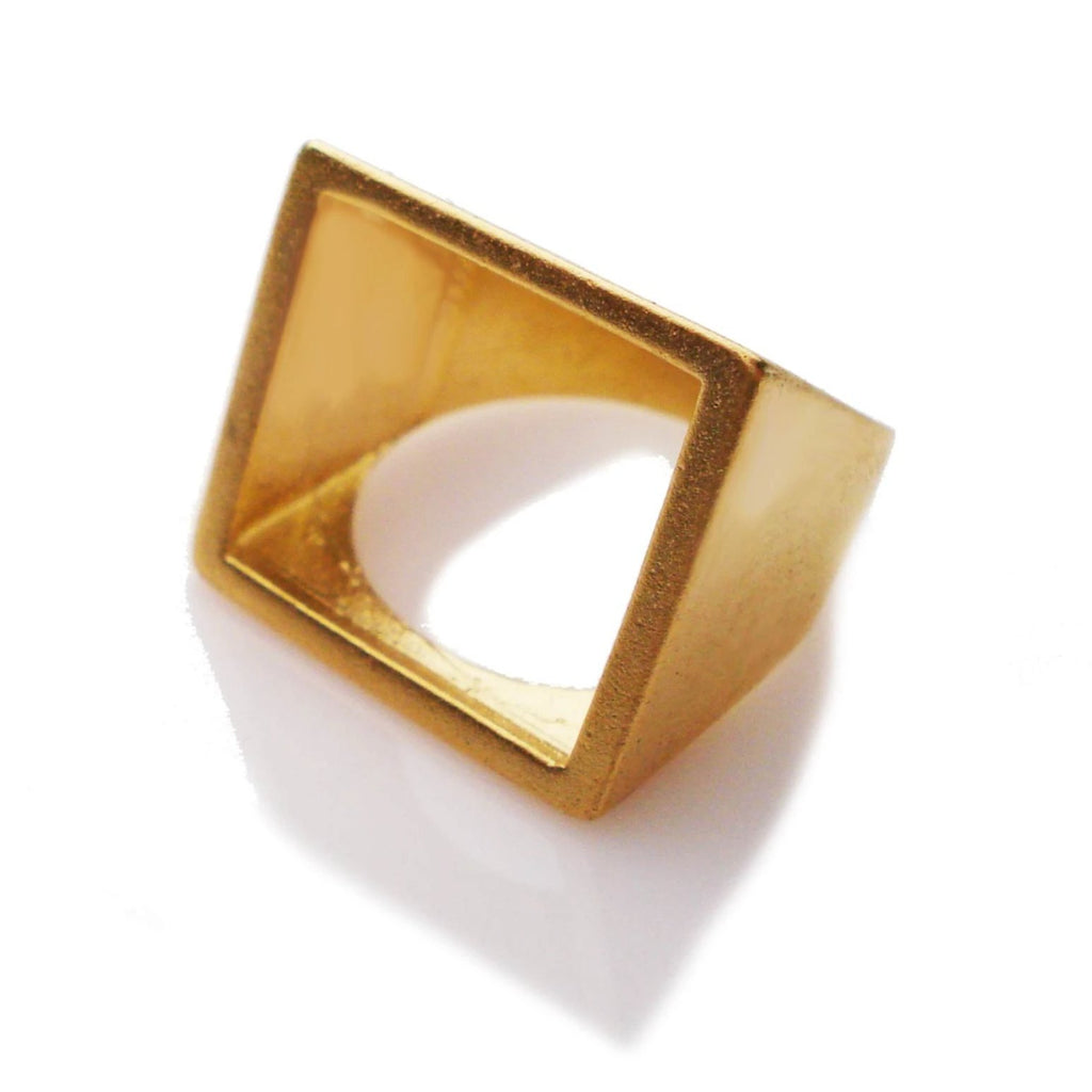 14k minimalist solid gold ring, urban square ring, minimalist design of gold ring, handmade square ring for you, square ring for myself, gift for me, gifts for her