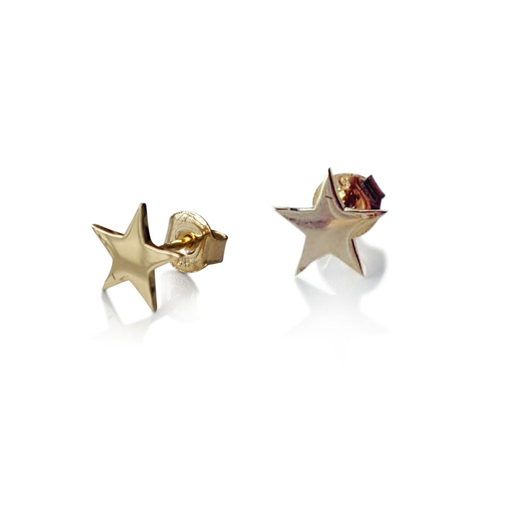 Gold Star Stud Earrings, Solid Gold star Studs, Stud Earrings, Minimalist Earrings, Star Stud Earrings, 14 karat Gold star Earrings