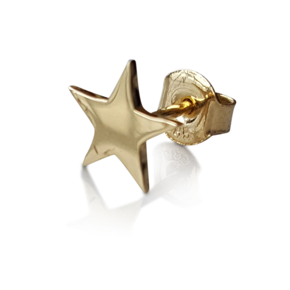 Gold Star Stud Earrings, Solid Gold star Studs, Stud Earrings, Minimalist Earrings, Star Stud Earrings, Gold Post Earrings