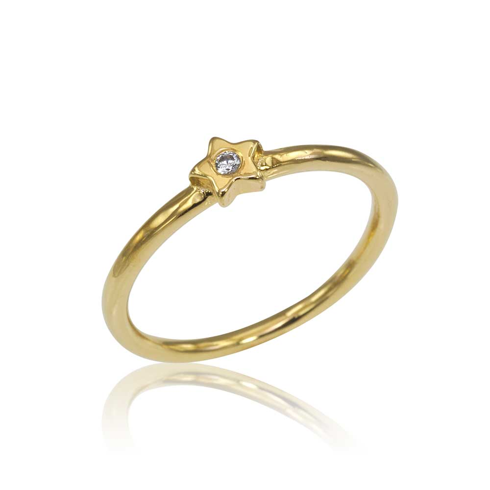 Osnat Har Noy Jewelry, 14k star ring, 18k star ring, yellow gold diamond star ring, diamond star engagement ring, yellow gold star engagement ring