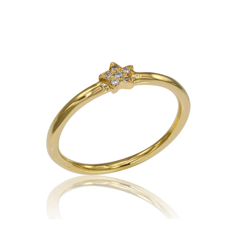 Osnat Har Noy Jewelry, 14k star ring, 18k star ring, yellow gold diamond star ring, diamond star engagement ring, yellow gold star engagement ring, diamond star ring