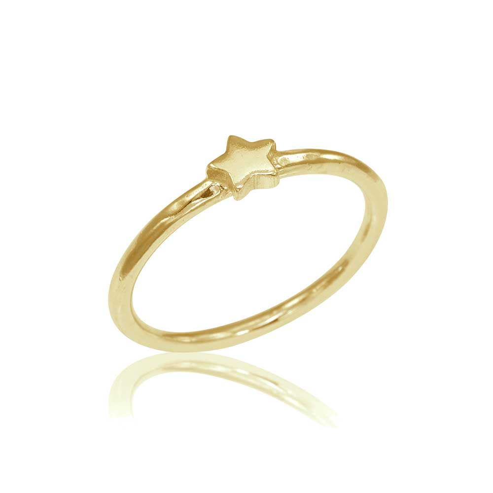 Osnat Har Noy Jewelry, 14k star ring, 18k star ring, yellow gold star eing, star engagement ring, yellow gold star engagement ring