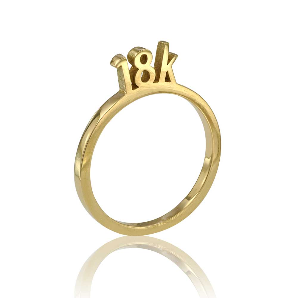 Osnat Har Noy Jewelry, 18k solid gold ring, unique 18k ring, unique band,  18k yellow gold ring, 18k geometric ring, unique gold ring, designer ring, 18K stacker