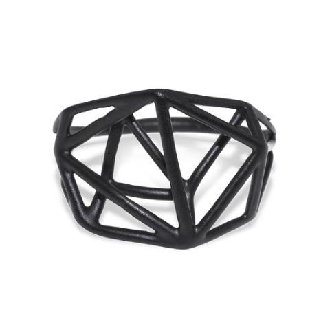 Osnat Har Noy Jewelry, black geometric ring, architecture ring, geometric jewelry, black ring, unique black ring