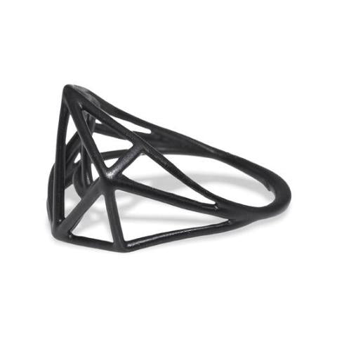 Osnat Har Noy Jewelry, black jewelry, architecture ring, geometric jewelry,  designer ring,  black geometric ring, architecture ring, black jewelry, black geometric ring, geo ring