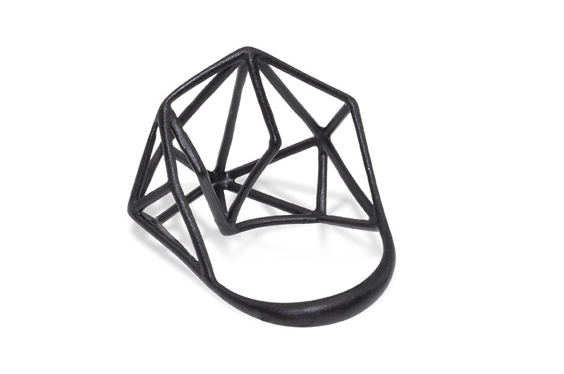 Osnat Har Noy Jewelry, designer ring, geometric jewelry, black ring, handmade ring, architecture ring, geometric jewelry, black jewelry, designer ring, black ring,