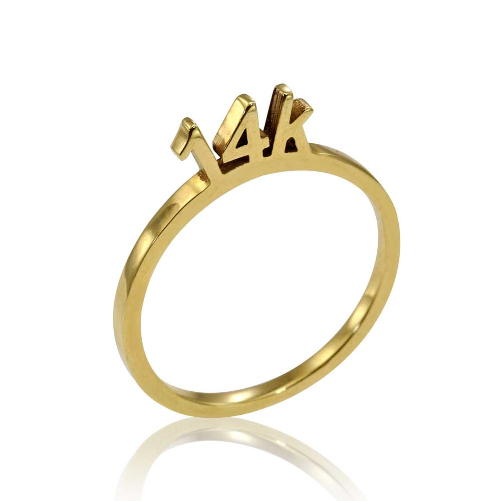 Osnat Har Noy Jewelry, solid gold ring, unique 14k ring, unique gold ring, designer ring, 14K gold ring, 14K stacker ring, stacker 14k