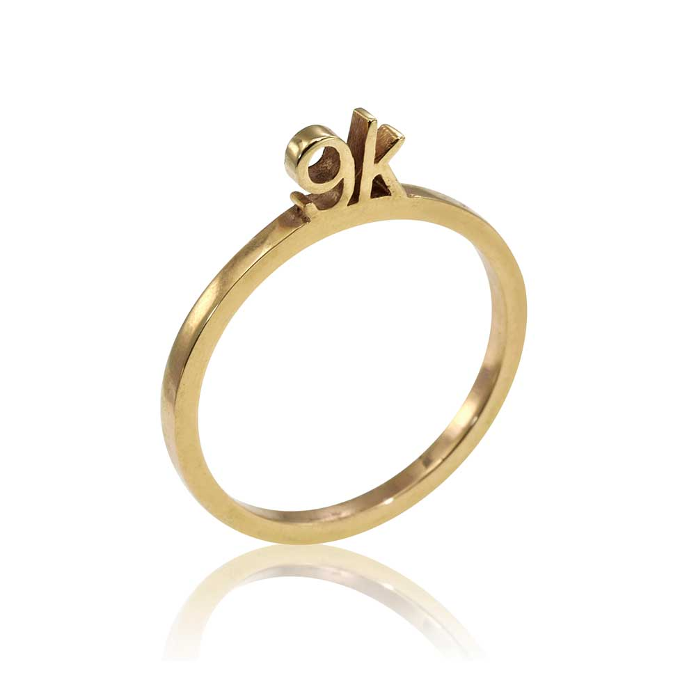 Osnat Har Noy Jewelry, solid gold ring, unique engagement ring, unique gold ring, designer ring, 9K gold ring, 9K stacker ring, stackable gold ring, promise ring, 9k