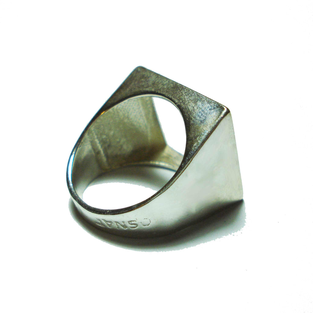 Osnat Har Noy Jewelry, square ring, geometric ring, sterling silver ring, unique ring, square band