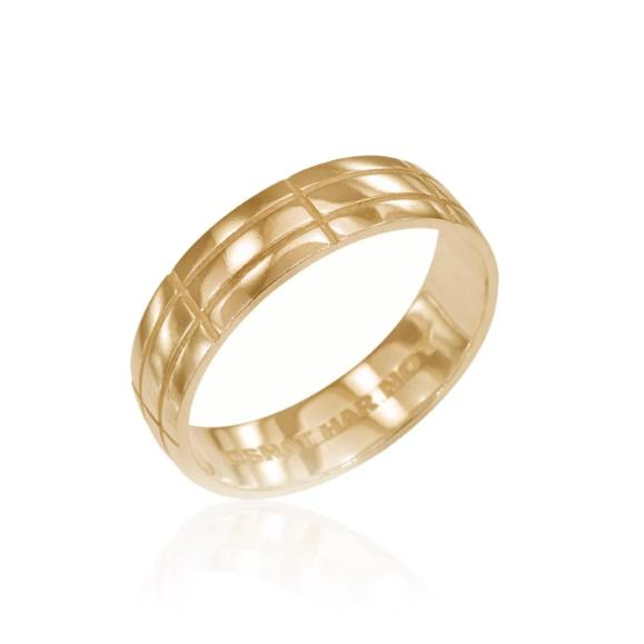 Osnat Har Noy Jewelry, wedding band, gold ring, unisex band, men band, geometric band, bridal ring