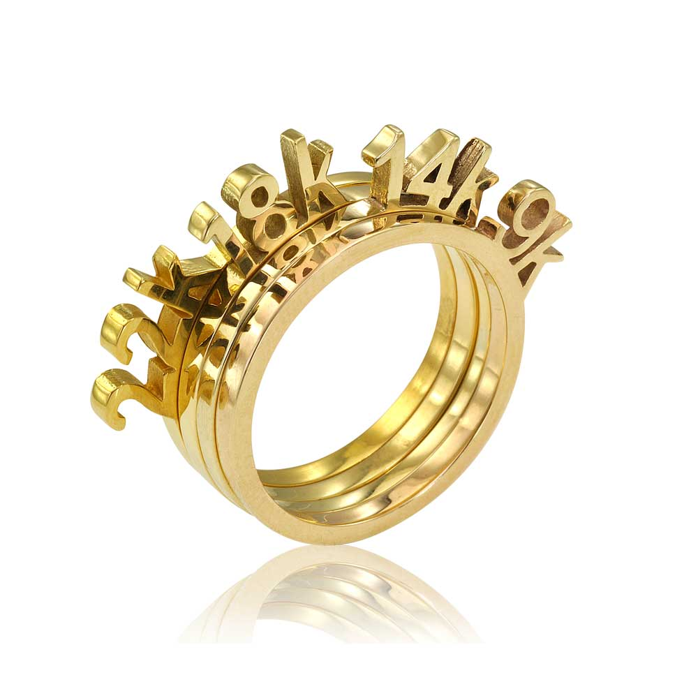 Osnat Har Noy Karat Rings, Solid Gold Rings, 9K ring, 14k ring, 18K ring, 22K ring, stacker gold rings, gold stacker