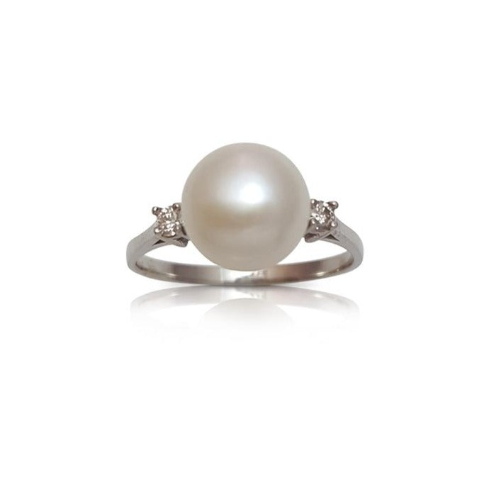 Pearl ring, pearl engagement ring, pearl and diamond ring, engagement ring, antique, vintage ring, June birthstone ring, weddings, anniversary ring