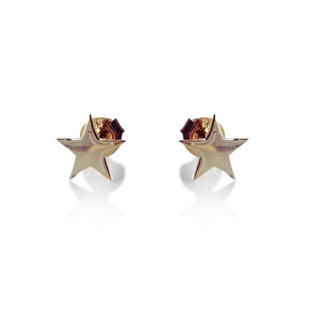 Star Stud Earrings, Solid Gold star Studs, Stud Earrings, Minimalist Earrings, Star Stud Earrings, 14 karat Gold Post Earrings