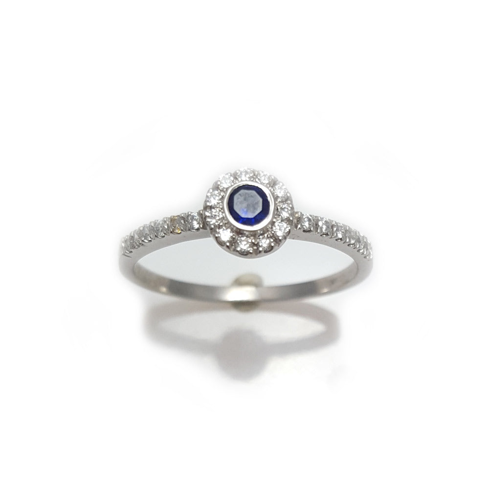Round sapphire and diamond halo ring, round sapphire and diamond engagement ring, unique engagement ring, sapphire engagement ring, sapphire engagement ring, sapphire band, wedding band, promise ring, gifts for her